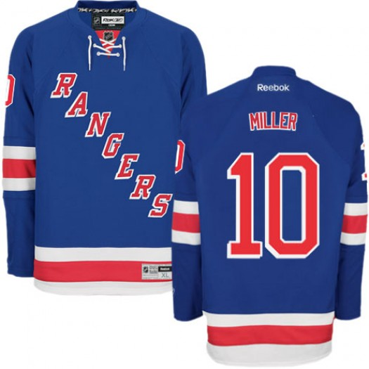 J.T. Miller New York Rangers Men's Reebok Authentic Royal Blue Home Jersey