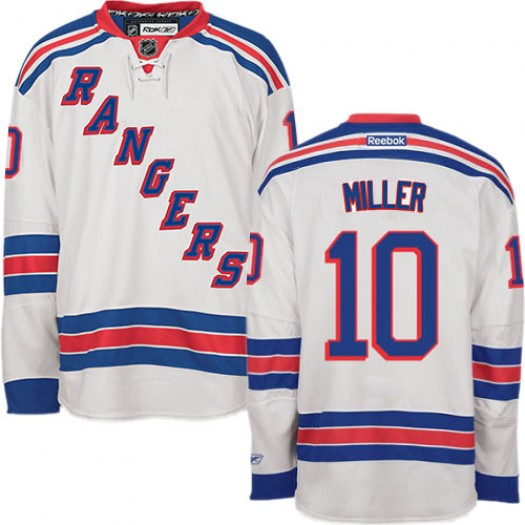 J.T. Miller New York Rangers Men's Reebok Authentic White Away Jersey