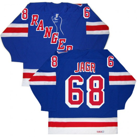 Jaromir Jagr New York Rangers Men's CCM Authentic Royal Blue New Throwback Jersey