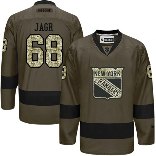 Jaromir Jagr New York Rangers Men's Reebok Authentic Green Salute to Service Jersey