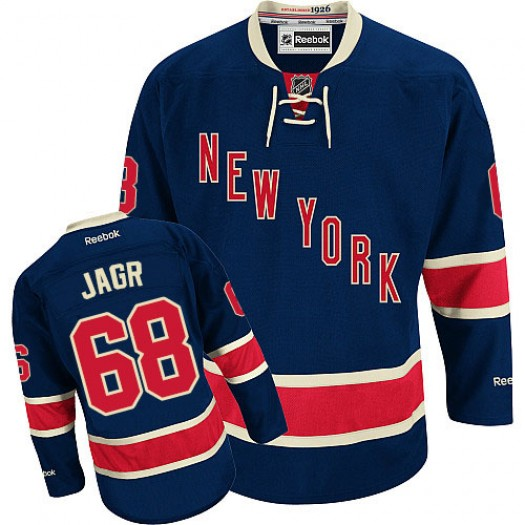 Jaromir Jagr New York Rangers Men's Reebok Authentic Navy Blue Third Jersey