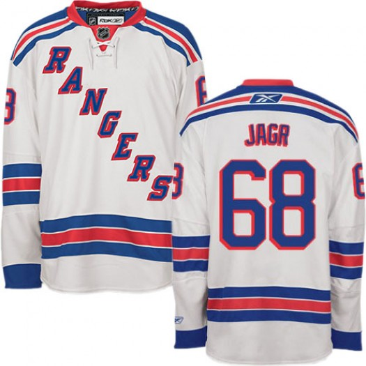 Jaromir Jagr New York Rangers Men's Reebok Authentic White Away Jersey
