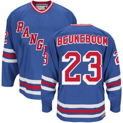 Jeff Beukeboom New York Rangers Men's CCM Authentic Royal Blue Heroes of Hockey Alumni Throwback Jersey