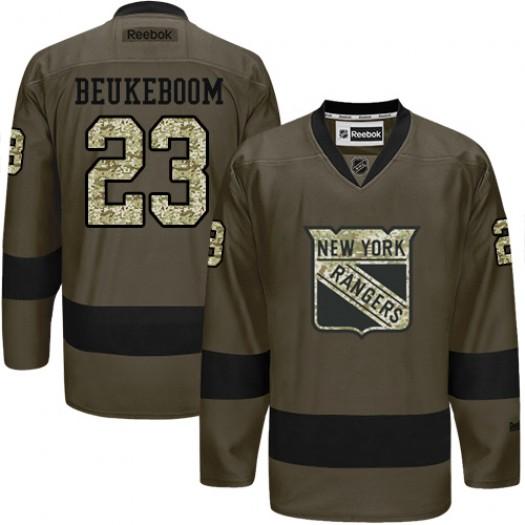 Jeff Beukeboom New York Rangers Men's Reebok Premier Green Salute to Service Jersey