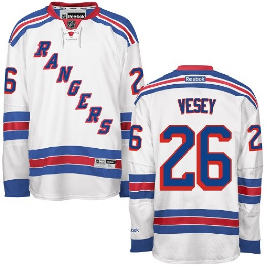 Jimmy Vesey New York Rangers Men's Reebok Authentic White Away Jersey