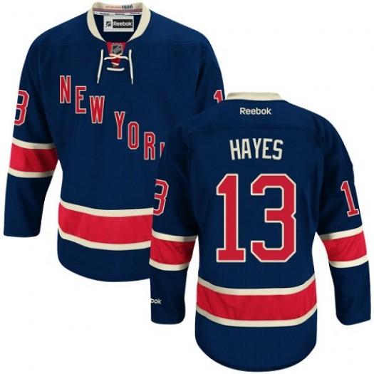 Kevin Hayes New York Rangers Men's Reebok Authentic Navy Blue Third Jersey