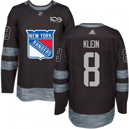 Kevin Klein New York Rangers Men's Adidas Authentic Black 1917-2017 100th Anniversary Jersey