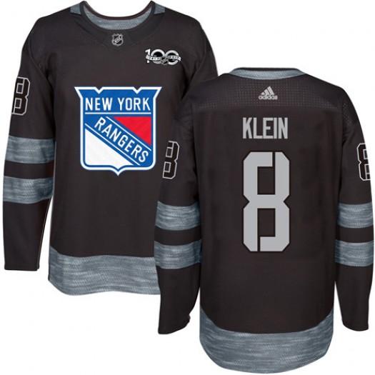 Kevin Klein New York Rangers Men's Adidas Premier Black 1917-2017 100th Anniversary Jersey