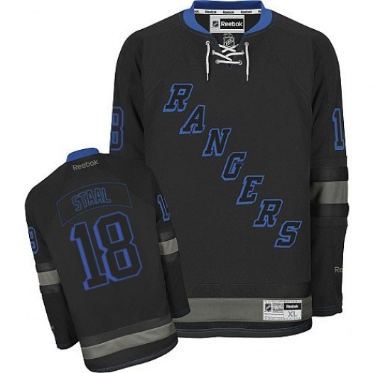 Marc Staal New York Rangers Men's Reebok Authentic Black Ice Jersey