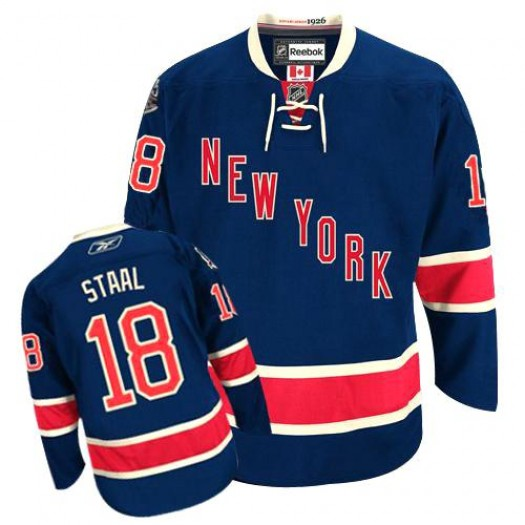 Marc Staal New York Rangers Men's Reebok Authentic Navy Blue Third Jersey