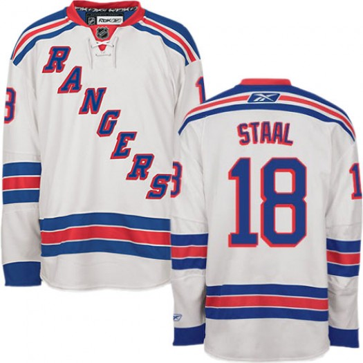 Marc Staal New York Rangers Men's Reebok Authentic White Away Jersey