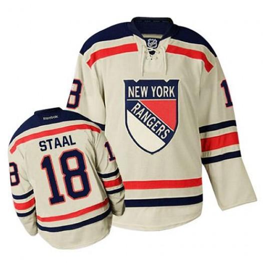 Marc Staal New York Rangers Men's Reebok Premier Cream 2012 Winter Classic Jersey