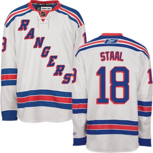 Marc Staal New York Rangers Men's Reebok Premier White Away Jersey