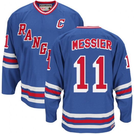 Mark Messier New York Rangers Men's CCM Authentic Royal Blue Heroes of Hockey Alumni Throwback Jersey