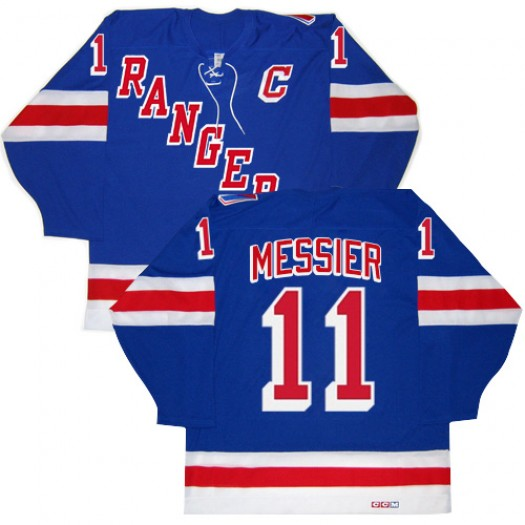 Mark Messier New York Rangers Men's CCM Authentic Royal Blue New Throwback Jersey