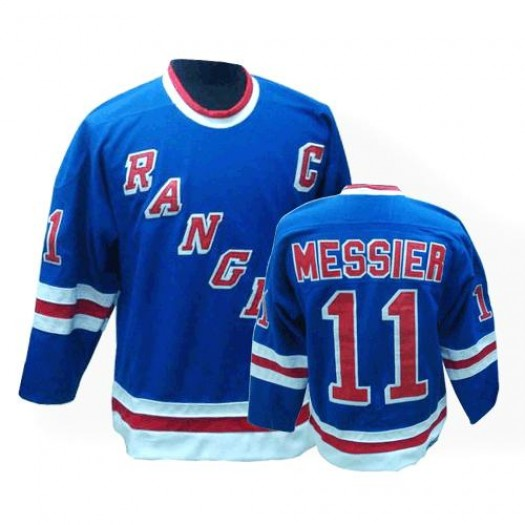 Mark Messier New York Rangers Men's CCM Authentic Royal Blue Throwback Jersey