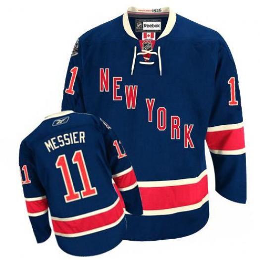 Mark Messier New York Rangers Men's Reebok Authentic Navy Blue Third Jersey