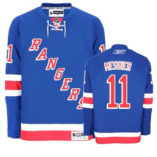 Mark Messier New York Rangers Men's Reebok Authentic Royal Blue Home Jersey