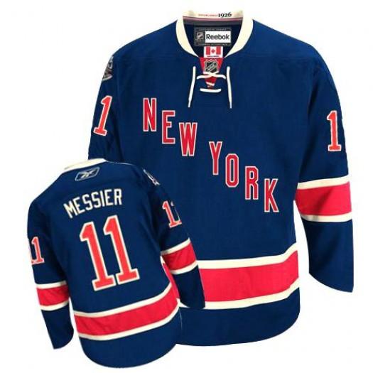 Mark Messier New York Rangers Men's Reebok Premier Navy Blue Third Jersey