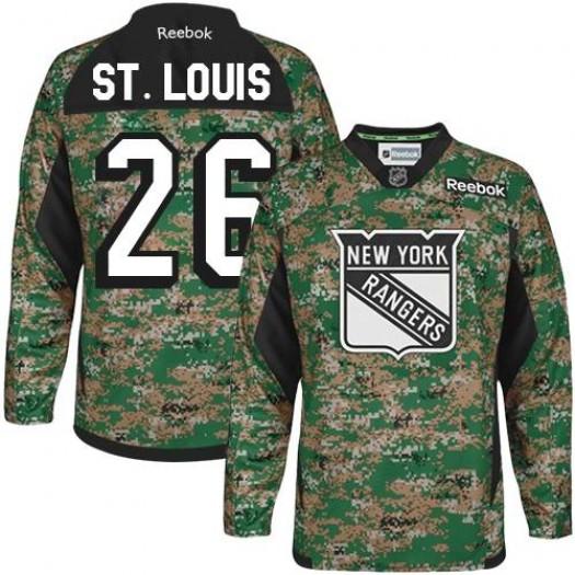 Martin St. Louis New York Rangers Men's Reebok Authentic Camo Veterans Day Practice Jersey