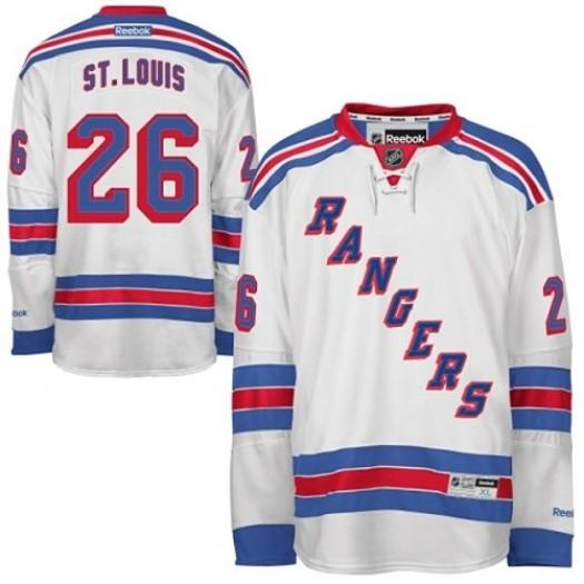 Martin St. Louis New York Rangers Men's Reebok Authentic White Away Jersey