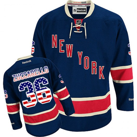 Mats Zuccarello New York Rangers Men's Reebok Authentic Navy Blue USA Flag Fashion Jersey