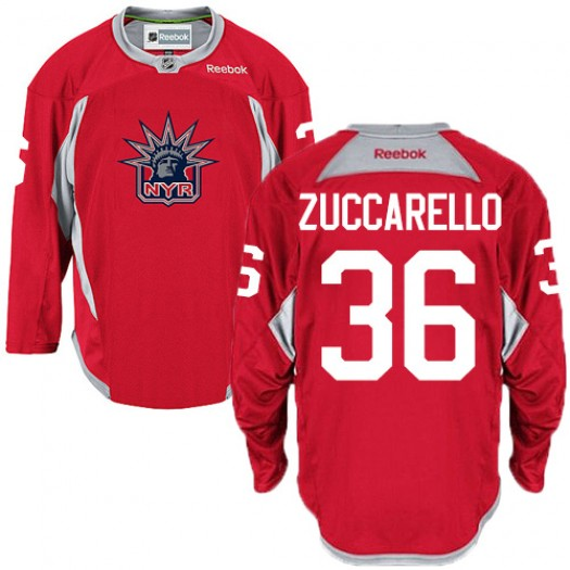 Mats Zuccarello New York Rangers Men's Reebok Authentic Red Statue of Liberty Practice Jersey