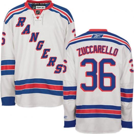 Mats Zuccarello New York Rangers Men's Reebok Authentic White Away Jersey