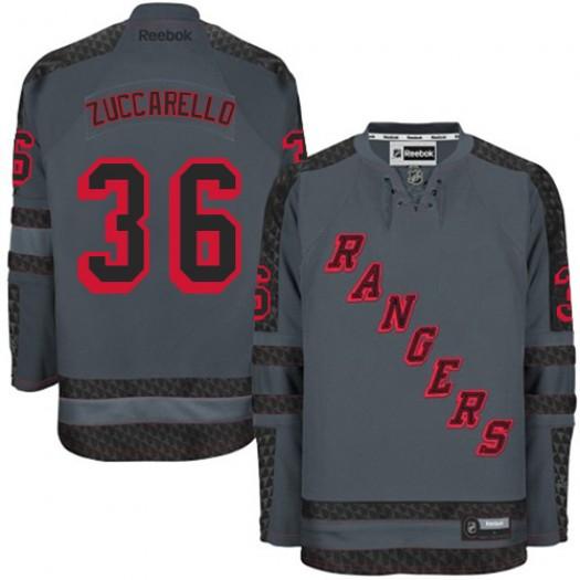 Mats Zuccarello New York Rangers Men's Reebok Premier Charcoal Cross Check Fashion Jersey