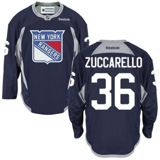 Mats Zuccarello New York Rangers Men's Reebok Premier Navy Blue Practice Jersey