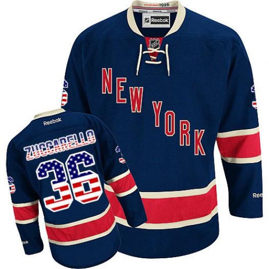 Mats Zuccarello New York Rangers Men's Reebok Premier Navy Blue USA Flag Fashion Jersey