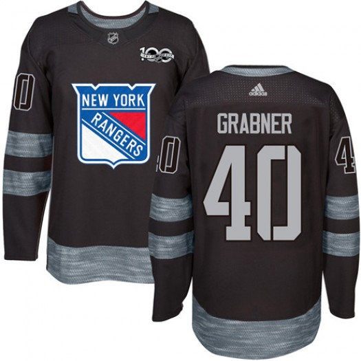 Michael Grabner New York Rangers Men's Adidas Authentic Black 1917-2017 100th Anniversary Jersey