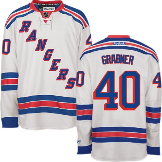 Michael Grabner New York Rangers Men's Reebok Authentic White Away Jersey