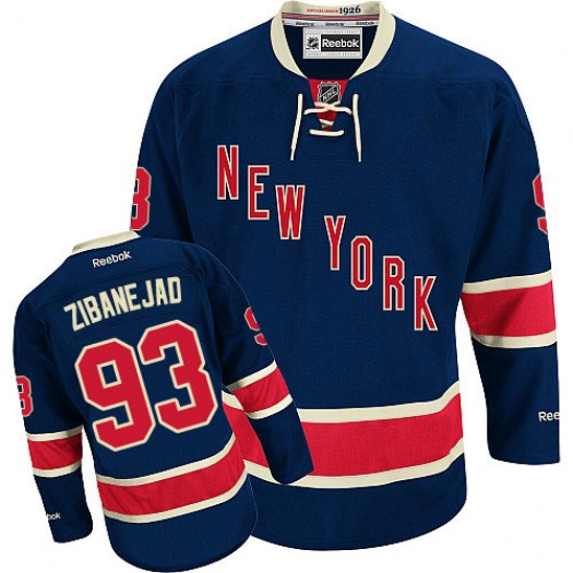 Mika Zibanejad New York Rangers Men's Reebok Authentic Navy Blue Third Jersey