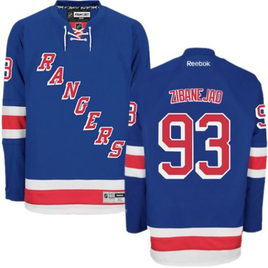 Mika Zibanejad New York Rangers Men's Reebok Authentic Royal Blue Home Jersey