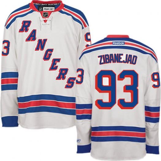 Mika Zibanejad New York Rangers Men's Reebok Authentic White Away Jersey