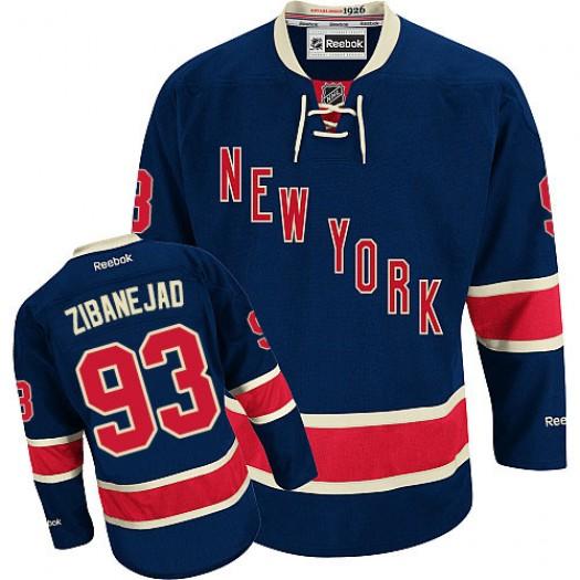 Mika Zibanejad New York Rangers Men's Reebok Premier Navy Blue Third Jersey