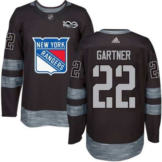 Mike Gartner New York Rangers Men's Adidas Authentic Black 1917-2017 100th Anniversary Jersey