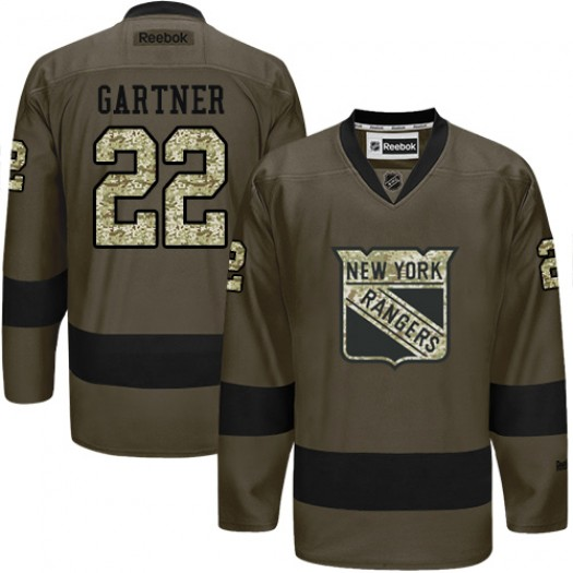 Mike Gartner New York Rangers Men's Reebok Authentic Green Salute to Service Jersey