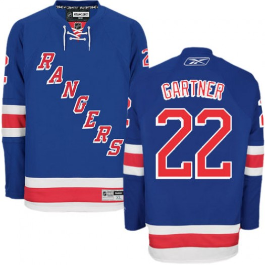 Mike Gartner New York Rangers Men's Reebok Authentic Royal Blue Home Jersey
