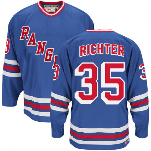 Mike Richter New York Rangers Men's CCM Authentic Royal Blue Heroes of Hockey Alumni Throwback Jersey