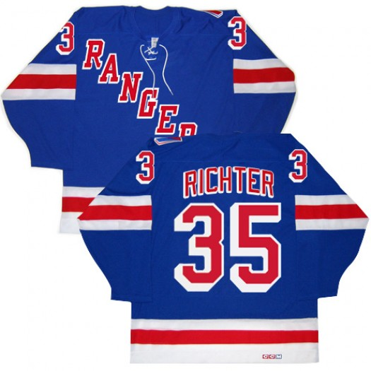 Mike Richter New York Rangers Men's CCM Authentic Royal Blue New Throwback Jersey
