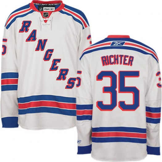 Mike Richter New York Rangers Men's Reebok Authentic White Away Jersey