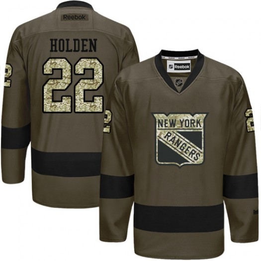 Nick Holden New York Rangers Men's Reebok Authentic Green Salute to Service Jersey