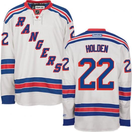 Nick Holden New York Rangers Men's Reebok Authentic White Away Jersey