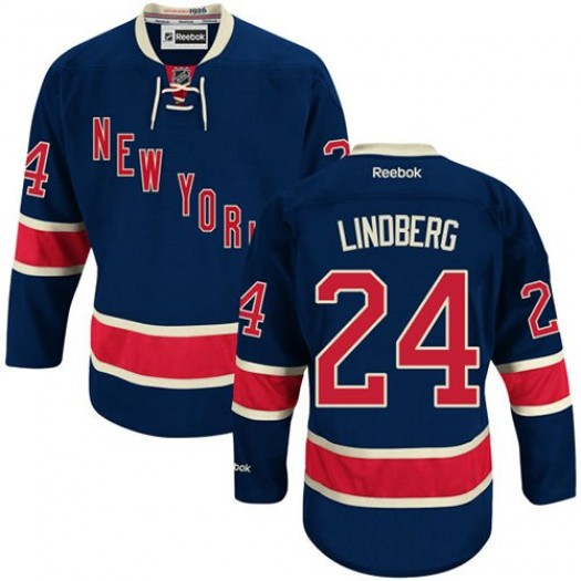 Oscar Lindberg New York Rangers Men's Reebok Premier Navy Blue Third Jersey