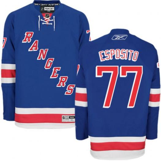 Phil Esposito New York Rangers Men's Reebok Authentic Royal Blue Home Jersey