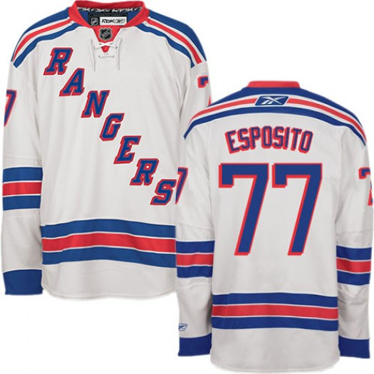 Phil Esposito New York Rangers Men's Reebok Premier White Away Jersey