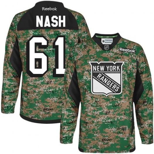 Rick Nash New York Rangers Men's Reebok Authentic Camo Veterans Day Practice Jersey