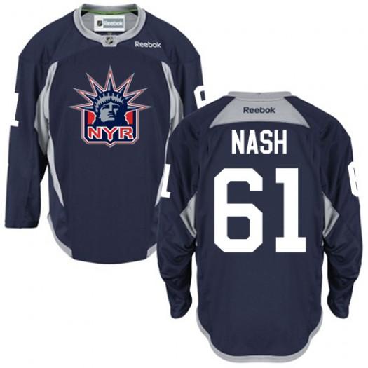 Rick Nash New York Rangers Men's Reebok Authentic Navy Blue Statue of Liberty Practice Jersey